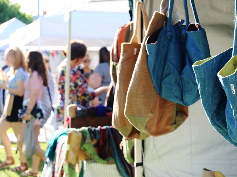 lady bags at QEII Twilight Market