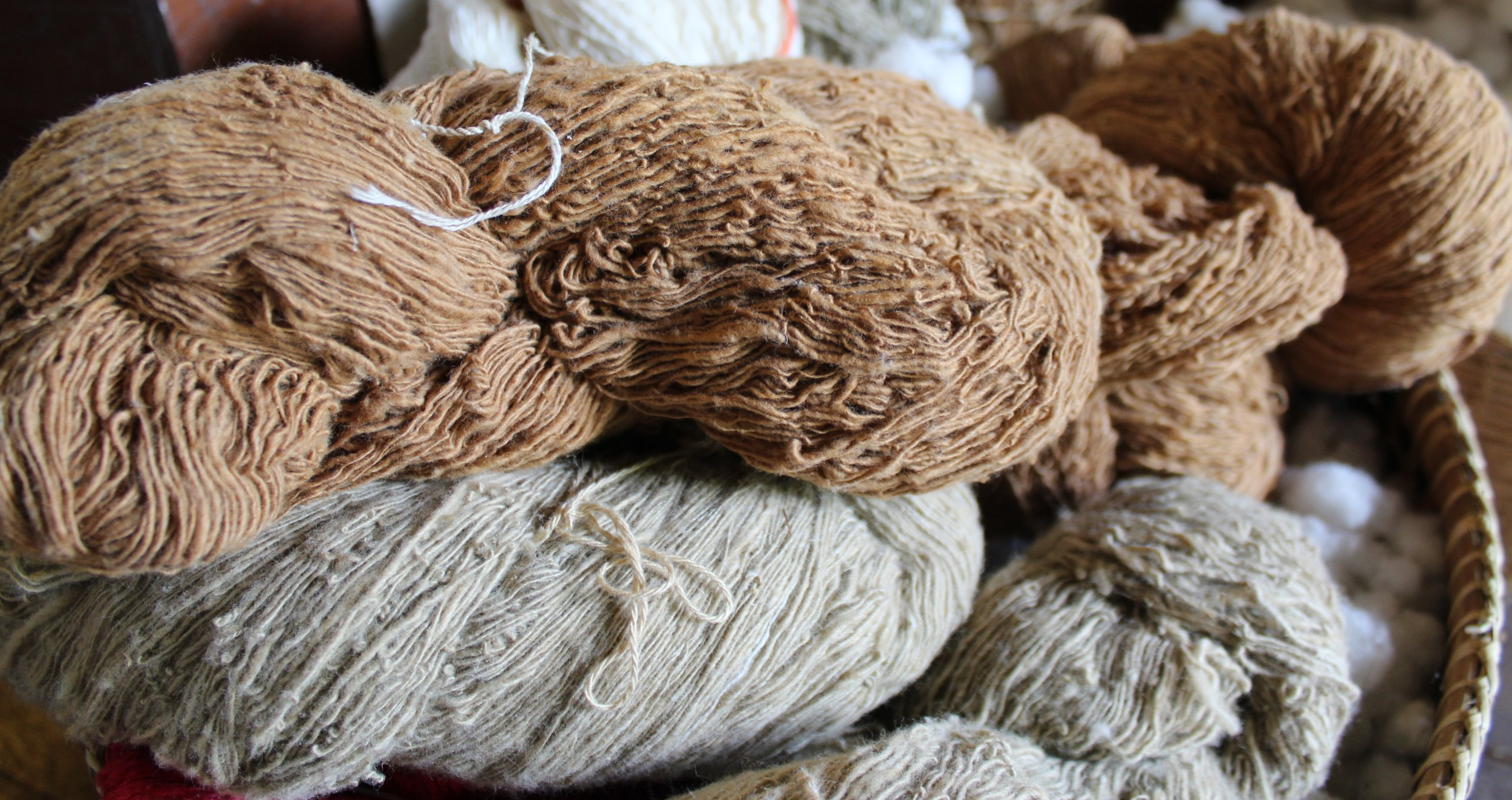 assortments of cotton yarns