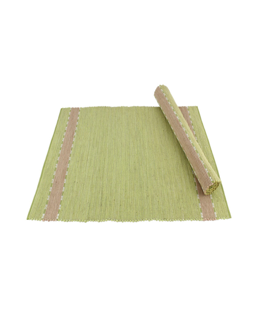 lime green table placemat