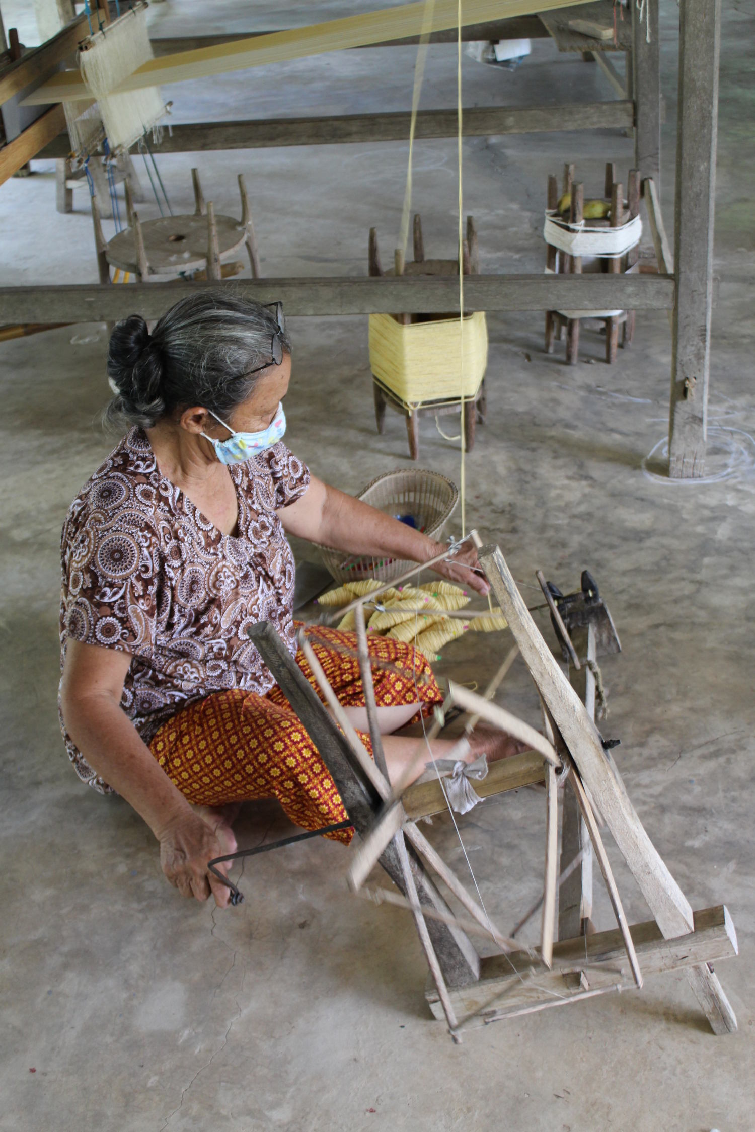 traditional spinning yarn